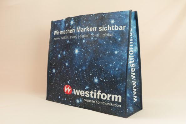 PP Non Woven Werbetragetaschen Hersteller vorne Westiform 12102 10580